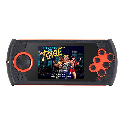 3.0 Inch 16Bit Retro Game Handheld Player for Sega Game Console Built-in 1100 no-repeat Games Video Game Console MP3 MP4 video Support AV Cable Output (GM01050Orange)