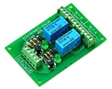 ELECTRONICS-SALON Two DPDT Signal Relay Module Board, DC5V Version, for PIC Arduino 8051 AVR.