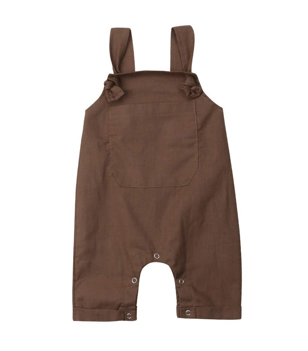 Loalirando Mono Bebé Recién Nacido Niña Niño sin Mangas Mameluco Pantalones Peto Cabestro Monos Jumpsuit 1