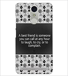 PrintDhaba Quote D-4681 Back Case Cover for LENOVO K5 NOTE (Multi-Coloured)