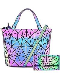HotOne Handtaschen Scherbe Gitter Design Geometrische Tasche PU-Leder einzigartige Handtaschen