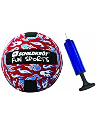 MTS 970077 - Neopren Beachball 23 cm rot mit Ballpumpe