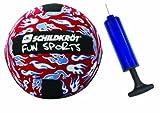 MTS Sportartikel MTS 970077 - Neopren Beachball 23 cm rot mit Ballpumpe