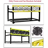 6 GPU Miner Case Aluminum Stackable Mining Rig Case Open Air Frame Unassembled Miner Kit For ETH/ETC/ZCash Ethereum,Bitcoin,and Altcoins(Deluxe,Frame+Fan Brackets Included)
