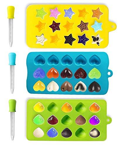 Joyoldelf moldes caramelo & cubo hielo Bandejas -