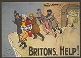 Vintage British política: partido conservador en el mercado mundial: ayuda de Gran Bretaña c1909250gsm brillante Art Tarjeta A3reproducción de póster