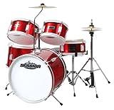 XDrum Junior batterie pour enfants rouge avec école + DVD incl.