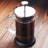 Cafetera de 6 tazas estilo cafetera de prensa francesa para café y té, en acero inoxidable 1000ML /34OZ
