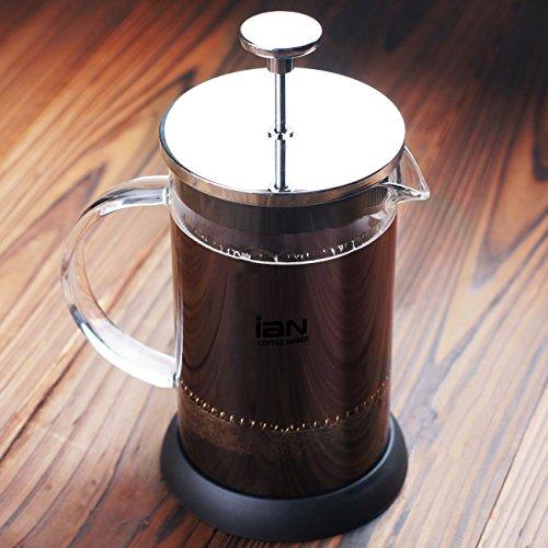decen 6Cup Kaffeebereiter French Coffee Drücken Tee Edelstahl Kaffeekanne 1000ML /34OZ