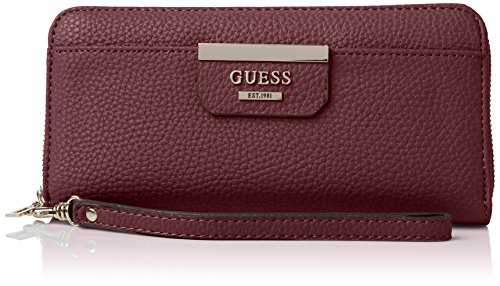 Guess Bobbi Slg Large Zip Around Portamonete, Donna, Viola (Bordeaux Multi)