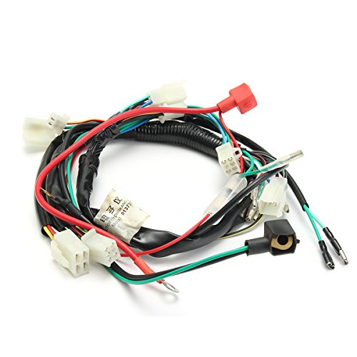 ILS - Electric Engine Start Wiring Loom Harness Pit Bike Motorcycle ATV Quad 70cc 90cc 110cc 125cc (Batterie 90cc Atv)