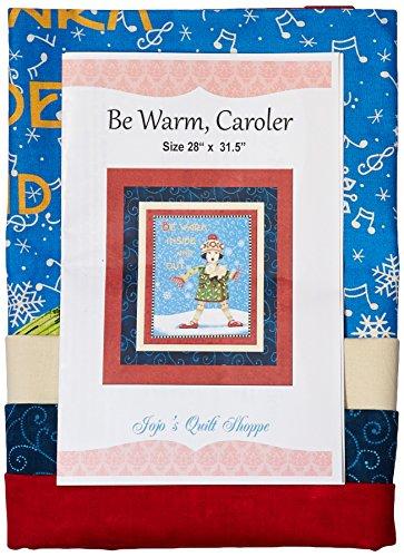 JoJo 's Quilt Shoppe Be Warm, Weihnachtssänger Quilt Panel von Mary Engelbreit und Moda Stoffe, Muster & Kit (Fabric Panel Moda)