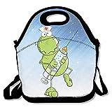 hoeless enfermera rana Cartoon mochila de aislamiento almuerzo con cremallera, asa y correa...