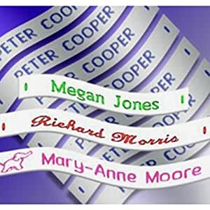 120 Woven Sew in School Name Tapes Name Tags Labels