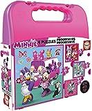 Educa Borrás- Mickey Top Départ Malette Puzzles Progressifs Minnie & The Happy...