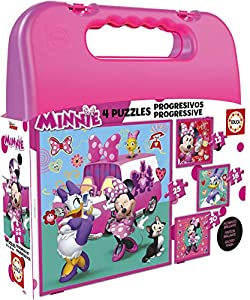 Educa-Borrás- Mickey and The Roadster Racers Maleta Puzzles Progresivos, Multicolor, 16 Piezas (17638)