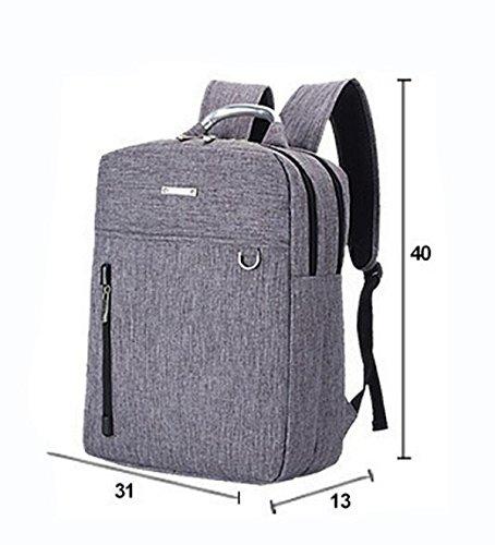 Umhängetasche Rucksack Männer Und Frauen Computer Tasche Freizeit Einfache Wilde Mode Atmosphäre Black