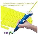 DEWANG 3D-Drucker Filament-40 Str?nge 1.75mm PLA Kunststoff f¨¹r 3D Drucker Zeichnung, Fluoreszenz Gelb
