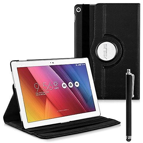 VCOMP® Etui Coque Housse avec support Et Rotation 360° en cuir PU pour Asus ZenPad 10 Z300C 10.1