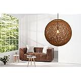 Invicta Interior 35794 Hängeleuchte Cocoon XL, natur-braun, 60cm