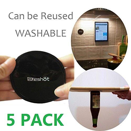 Premium Fixate Cell Pads von Sunshot [5 PACK], Sticky Anti-Rutsch GEL Pads - kann auf Glas, Spiegel, Whiteboards, Metall, Küchenschränke oder Fliesen, Auto GPS und vieles mehr