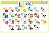 merka CARTAS Educativo Niños Individuales - antideslizante lavable alfabeto ABC