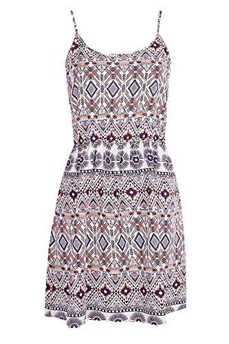 Damen Multi Lauren Sommerkleid Mit Azteken-print Und Schmalen Trägern Multi