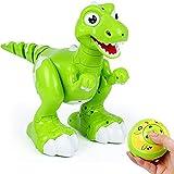 Interaktives Dinosaurier-Fernsteuerungsspielzeug, AOMEI Sprühwasser RC wechselwirkendes gehendes Haustier leuchten Augen-Drache mit singen Tanz-Musik-Funktion für Kinder, Jungen, Mädchen
