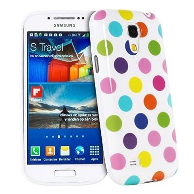 Silikon Polka Dots Hülle Hüllen Schutzhülle Tasche Etui Protection Case Protective Cover Für Samsung Galaxy S4 Mini i9190 i9192 i9195 Weiß Und Bunt von Atechport - Lampenhans.de