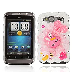 Hard Plastic Case for HTC Wildfire S G13 Rabbit Pattern