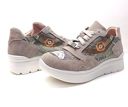 GATTINONI Scarpe Donna, Sneaker Woman Sport Suede, PEGVA6042WSB, camoscio, modello hogan, lacci (37 EU, SAND (beige))