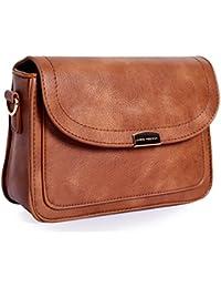 Lino Perros Tan Sling Bag - B07B4D29ML