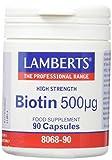 Lamberts Biotina 500ug - 90 Cápsulas