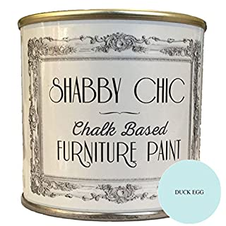 "Möbelfarbe, auf Kreidebasis, Shabby-Chic-Stil, Farbe: ""Entenei-Blau"" 250ml"