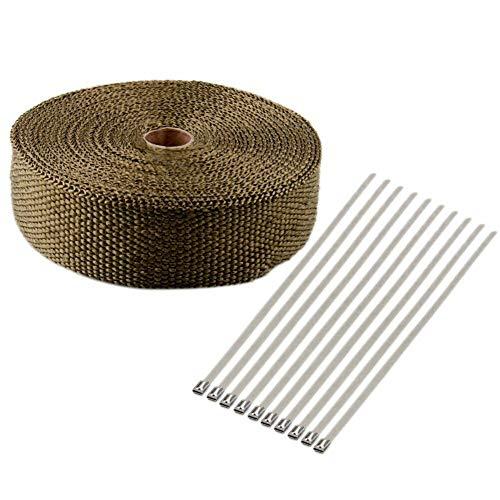 SayHia glasfaser hohe abgaswärmeverpackung Anti-Stagnation Rohr hot Pack 10 mt gürtelkabelbinder für auslasskrümmer gemäßigten ellbogen gürtel