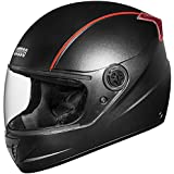 Studds Professional Full Face Helmet (Black and Red, XL)