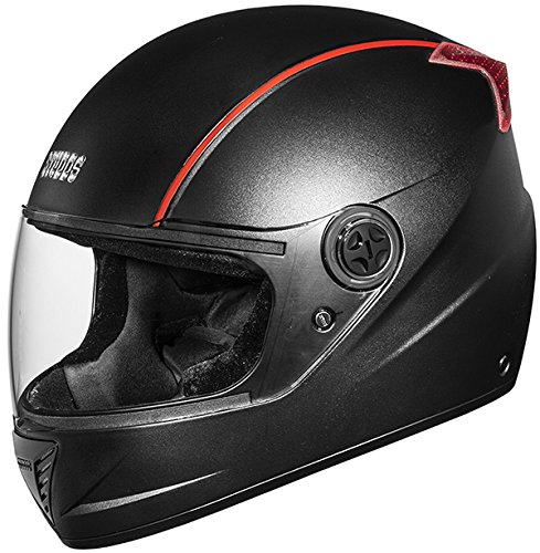 Studds Professional Full Face Helmet (Black and Red, M)