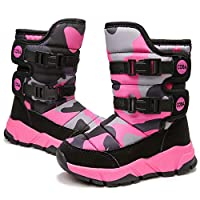 Funnie Kids Snow Boots Girls Boys Walking Hiking Cosy Winter Fur Lined Children Boots High-top Waterproof Outdoor Warm Shoes Unisex
