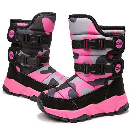 Funnie Niños Botas de Nieve Chica Niña Impermeable Botas de Invierno Outdoor Zapatos Calientes Zapatos...