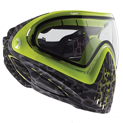 Dye Goggle I4 Skinned Lime-Thermal, Grau/Grün, One size (Thermal Paintball Maske Brille)