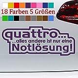Generic Quattro Notlösung Audi A5 A6 A8 Q5 Tuning Aufkleber JDM 18 Farben 5 Größen