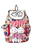 #6: Leather Retail stylish Bunny backpack Multicolored colors bag gift & sales