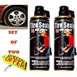 Premium Quality Tyre Inflator & Sealer For Emergency Tyre Puncture Usage (Set Of 2)