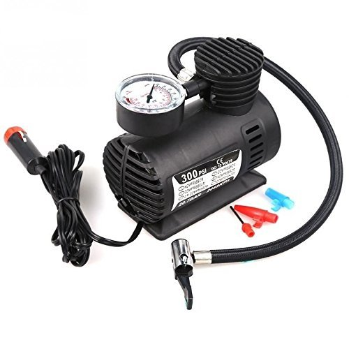 Tiru Traders Air Pump Compressor 12V Electric Car Bike Tyre Tire Inflator  available at amazon for Rs.594
