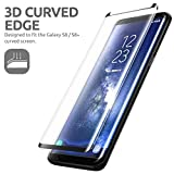 eFinetrick 3D Full Body Premium Quality Tempered Glass Screen Protector For Samsung Galaxy S8 PLUS 6.2 Inch Black