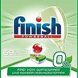 Finish 0% Spülmaschinentabs, brillante Reinigung ohne Duft- und Konservierungsstoffe, 69 Tabs (3 x 23 Tabs)