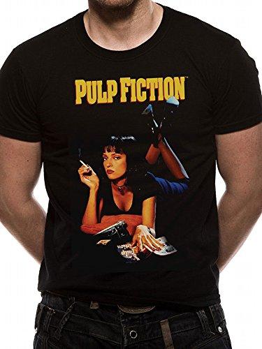 Pulp Fiction Uma Thurman Poster Official Tarantino Black Mens T-shirt