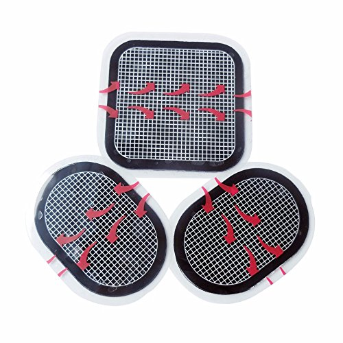 Entspannen Sie sich komfortabel Massagegerät pad Austausch des Riemens Gel Pads Bauchgurt pads Massagegerät Pad 3 pcs/Set, schwarz
