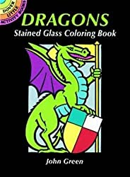 Dragons : Stained Glass Coloring Books