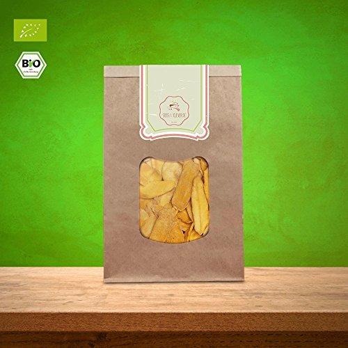 süssundclever.de® | Bio Mango, getrocknet | 1 kg (2 x 500g) | hochwertiges Naturprodukt | plastikfrei und ökologisch-nachhaltig abgepackt | Mango Brooks | getrocknete Mango Streifen